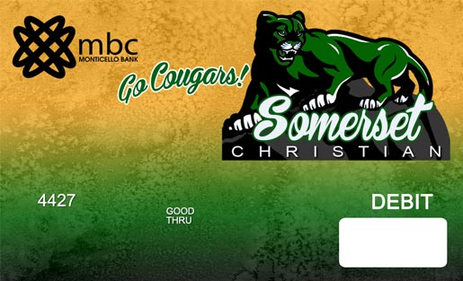 Somserset Christian Cougars debit card